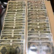 Used Japan Paper Money Old Banknote Currency Military 10 Yen 30set Antique Rare
