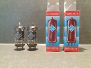 Very Rare Matched Pair Telefunken Ecc83 12ax7 With Early 1960and039s Tube