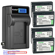 Kastar Battery Ac Wall Charger For Sony Np-fh50 Sony Alpha Dslr-a230 Dslr-a230l