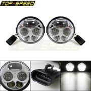 Pair Atv Led Headlight Head Lamp Projector For Kawasaki Teryx 4 750 Eps 2012-15