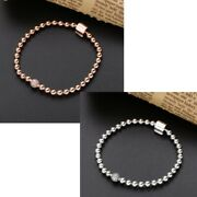 925 Sterling Silver Moments Beads And Pavé Bracelet Rose New