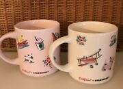 Used Starbucks X Cath Kidston Japan Limited Mug Cup Pink And White Cute Popularity