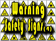 Yellow Warning Safety Signs, Caution, Slip, Trip Etc Vinyl Wall Stickers Signs 4