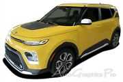 For 2020-2021 Kia Soul Hood Decals Soul Patch Rear Accent Vinyl Graphic Stripes