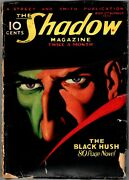 Shadow Pulp - August 1 1933 - Classic Cover The Black Hush