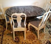 Pennsylvania House Antique/refinished Dining Table/4 Chairs Hgtv Ready Wow