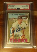 1967 Topps 30 Al Kaline Nm+ Tigers Hof Auth. Auto Autograph Psa/dna Must See