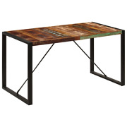 Vidaxl Dining Table 55.1 Solid Reclaimed Wood Kitchen Dinner Dining Room Home