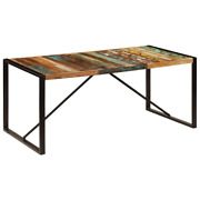 Vidaxl Dining Table 70.9 Solid Reclaimed Wood Kitchen Dinner Dining Room Home