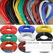16/18awg Ul Strand Wire Silicone Flexible Cables Coloured Green Black White
