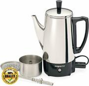 Presto 02822 6-cup Stainless-steel Coffee Percolator Silver