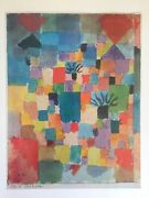 Paul Klee Vtg 1967 Authentic Lithograph Print Southern Tunisian Gardens 1919