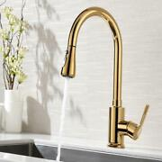 Bathroom Kitchen Sink Tap Mixer Pull Out Spout Faucet Single Handle Two Sprayer