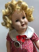 18andrdquo Antique Ideal Compo Shirley Temple Doll Nra Tagged Original Dress Adorable S
