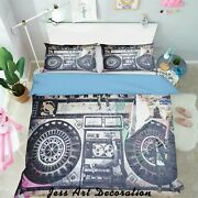 3d Radio Black Quilt Cover Comforter Cover Duvet Cover Double/queen/king 3pcs 22