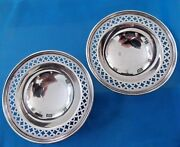 Antique Pair And Co. Sterling Silver Plates Salt Cellars 1900 - 1940