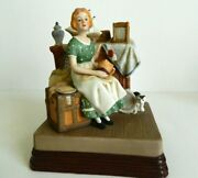 Dreams In The Antique Shop By Norman Rockwell 1985 Music Box Beautiful Dreamer