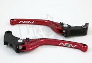 Kawasaki Zx12r 2000-05 Zzr600 2005-08 Asv F3 Lever Set Brake And Clutch Red Long