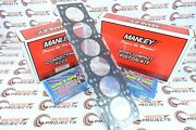 Manley Pistons And Rods And Arp Studs W/ Toyota Gasket For Supra 2jzgte 3.0l Turbo
