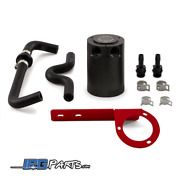 Mishimoto Baffled Oil Catch Can Red Bracket For 2017-2019 Honda Civic Type R Fk8