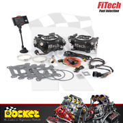 Fitech Go Efi 2x4 625hp Dual Quad Self Tuning Fuel Injection Black - Fh30062