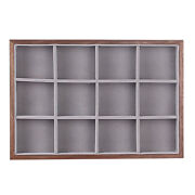 Natural Wood Box Jewelry Storage Case Vintage Wooden Boxes Display Tray
