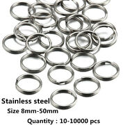 Stainless Steel Split Keyring Fishing Solid Jump Chain Wholesale 10-10000pcs X