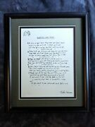 Official John Lennon Solo Years Collection Working Class Hero Lyrics Lithograph