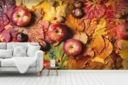 3d Apple Leaves Red Yellow Wallpaper Wall Mural Removable Self-adhesive Sticker