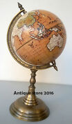 Desk Top World Globe On A Antique Stand Shows Nautical And Lane Collectible Gift