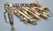 Nautical Vintage Brass Hour Glass Sand Timer Pink Sand Key Chain Lot Of 50 Pcs..