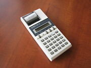 New In Box Rare Vintage 1983 Nos Canon Tp-7 Lcd Pocket Printing Calculator