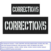 Bundle Set 2 Corrections Reflective Patches Plate Carrier Correctional Police X