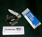 Schrade 3ot Knife Usa Old Timer 1990and039s Drop Point Hunter 3 And Original Packaging