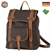 Akah Hiking Backpack Loden Buffalo Leather 507.2oz Water Resistant Daypack