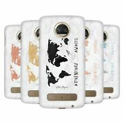 Nature Magick Adventure Awaits Map On Marble Back Case For Motorola Phones 1
