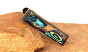 1940and039s Taxco Mexico Sterling Silver And Abalone Mother Of Pearl Tie Clip 1 3/8