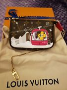 Louis Vuitton Christmas Holiday Animation Mini Pochette Limited Edition Pink
