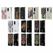 Bioworkz Coloured Animal Head 1 Leather Book Wallet Case For Huawei Phones