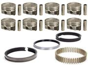 Speed Pro Chevy 327 Forged +5.3cc Dome Coated Pistons Moly Rings Kit L79 .030