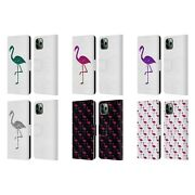 Pldesign Sparkly Flamingo Leather Book Wallet Case For Apple Iphone Phones