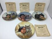 Set Of 4 Vague Shadows Perillo Plates Winter Scouts Loyal Alliance Brave And Free