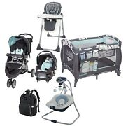 Baby Trend Travel System Boy Combo Playard Stroller With Car Seat Swing Chair