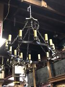 Antique Restored 14 Candle Chandelier. Great Island Chandelier. French Country