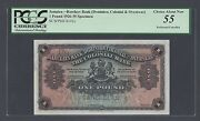 Jamaica One Pound 1926 Barclays Bank Ps141p Specimen About Uncirculated