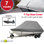 Oceansouth T-top Boat Cover 23ft7 To 24ft6 Length 102 Width