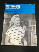 Doris Day Metronome Magazine Modern Music And Its Makers May 1954 Issue