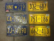 1970and039s 1980and039s Vintage Pennsylvania License Plates Pa Lot - 6