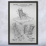 Framed Aircraft Ejection Seat Print Air Force Art Jet Pilot Gift Military Decor