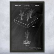 Framed Plant Germination Tray Print Gardening Gift Grow House Art Grower Gift